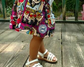 Girls Wonder Woman Skirt