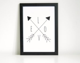 Love Arrows Wall Art Print