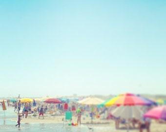 Seashore Photograph, Seashore Print, Seashore Art, Beach Photo, Beach Print, Beach House, Beach Artwork, Ocean City, NJ, Beach Kids Umbrella