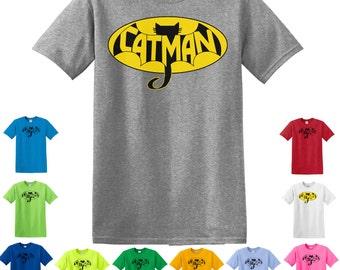 Catman T-Shirt, Cats, Men Love Cats, Cat Shirt, Catman Shirt