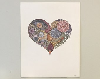 Tangled Heart Painting