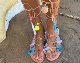 Ruby boho leather sandals