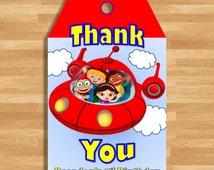Goody Bag / Thank You Tags - Little Einsteins Rocket