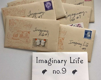 Imaginary Life no. 9 - Zine in decorated envelope