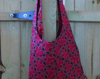 Hobo Sling Bag - Red Geometric