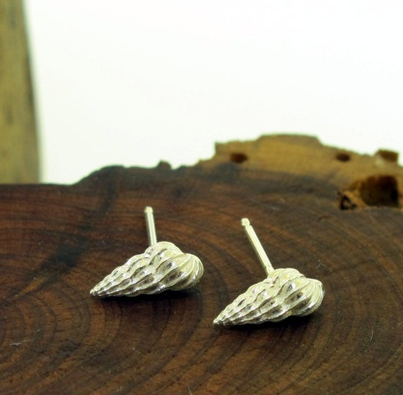 Craft Signed Sea Shell Earrings