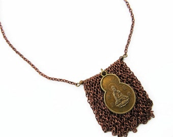Charm Necklace Buddha Protection Jewelry Buddha Necklace Copper Necklace Bohemian Festival Jewelry