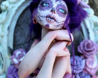 Lady D'Muertos - Dia de los Muertos (Day of the Dead) Framed Sculpture