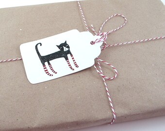Gift Tags: Christmas Cats [Instant Download]