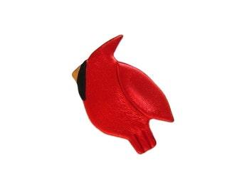 Cardinal Pin, Cardinal Jewelry, Wild Bird Pin, Cardinal Magnet