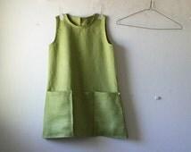 MUSTARD LINEN TUNIC / womens linen clothing / linen tunic / organic clothing /eco /handmade by pamelatang