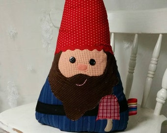 Garden Gnome - Gnome Pillow - Gnome Stuff Animal - Fairy Tale Pillow - Scandinavian Gnome - Gnome Kid - Woodland Creature - Woodland Nursery