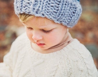 Blue Striped Boy Beanie