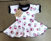 Newborn Baby Cupcake Circle Skirt Dress Spicy Toast Newborn - 3 month