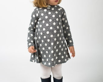 polka dot mock neck ribbed dress SUPAYANA 6-12 months through size 6!