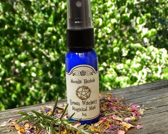 Green Witchery Magickal Mist - Faerie Sight, Hedgecraft, Garden Blessing, Earth Magick, Growth, Wisdom, Working with Plant Spirits, Pagan