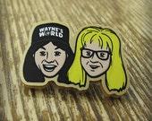 Wayne & Garth - Gold Acrylic Brooch