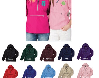 Charles River Monogrammed Pullover - Rain Jacket - Monogram Quarter Zip - Pack N Go Rain Coat - Gift for Her