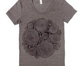 WOODPILE- Women's Tri-Blend T-Shirt