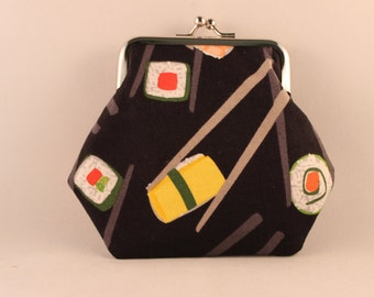 Sushi Clasp Kisslock Change Coin Purse