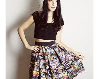 Long Custom STAR WARS Skirt - Handmade Star Wars skirt Adult - Diy High Waisted Skirt - woman Comic Book Skirt - XL star wars skirt