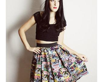 Long STAR WARS Skirt - Handmade Star Wars skirt Adult - Diy High Waisted Skirt - woman Comic Book Skirt