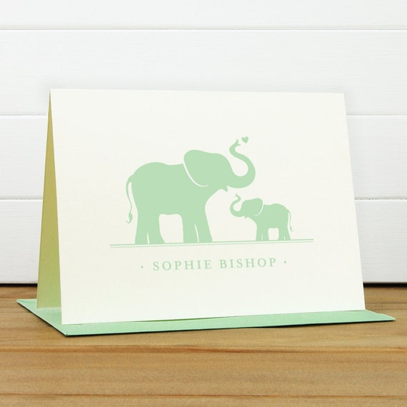Personalized Stationery Set / Personalized Stationary Set - DEAREST Custom Personalized Note Card Set - Baby Shower Thank You Card Children