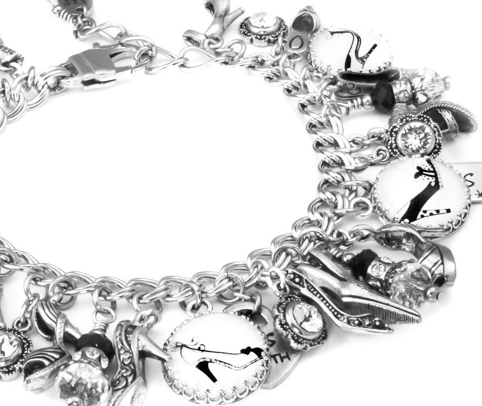 Shoe Charm Bracelet: Shoe Charm Bracelet Shoe Charms Shoe Bracelet Shoe Jewelry