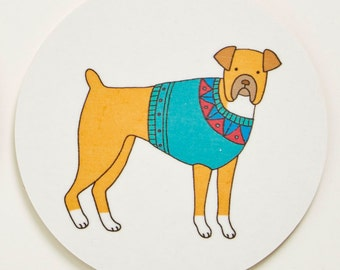 Dog Coaster - Boxer