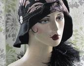 LILAC BURNT VELVET Hat with Silver Goddesses