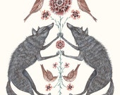 Wolves and Sparrows - Print