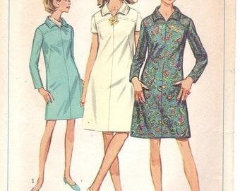 1967 Simplicity Miss Dress Sewing Pattern 7289