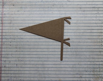 3 Bare chipboard Triangle Pennant (Banner) 5 inches wide x 4 1/4 inch tall