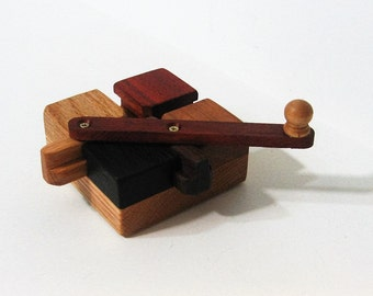 Genuine Do - Nothing Puzzle Made Of Six Woods