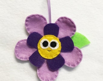 Flower Ornament, Christmas Ornament, Bloom the Flower - Made to order, Felt Plant, Gift Topper, Spring Decoration