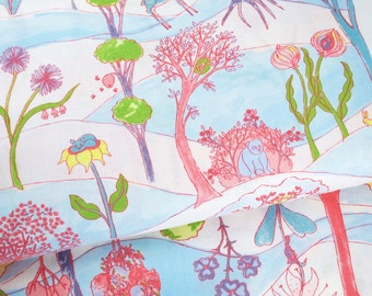 SALE - Garden Party Friends White - from Garden Party collection by Katy Tanis for Blend Fabrics - fabric by the yard