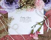 Self-inking Script Font Custom Return Address rubber stamp PERFECT for wedding invitations
