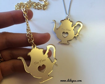 TEA TIME laser cut pendant