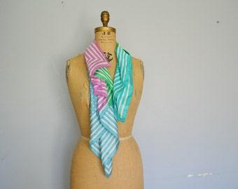 Vintage Echo Silk Scarf polka dots scarf
