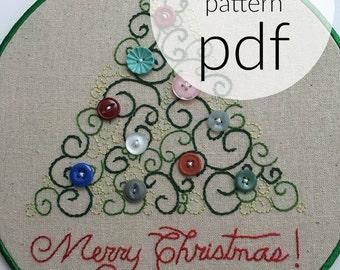 Felt Stars hand embroidery pattern, modern embroidery, embroidery patterns,  embroidery PDF, PDF pattern