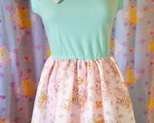 Cabbage Patch Kids dress, 80s toy vintage style fairy kei size L XL large