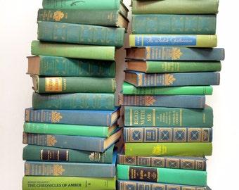 Decorative Books, 50 Books, CHOOSE COLORS, Wedding Colors, Vintage Engagement, Book Lot, Boho Wedding, Rustic Wedding Table, Bridal Shower