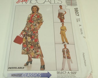 Easy McCall's Non-Stop Classics Misses' Shirt, Top, Pull-On Skirt, Pants and Shorts Pattern 8807 Size 6 8 10