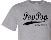 Pop Pop since, personalized mens shirt, father's day gift, gifts for grandparents, grandparents day