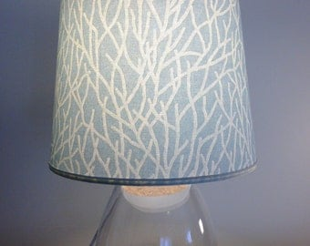 fillable lamp with coral fabric design lamp coral - Fillable Lamp