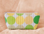 CITRON DOT Quilted Cotton Makeup Bag