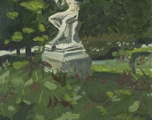 Petit Palais: Original Oil Painting Urban Plein Air Landscape
