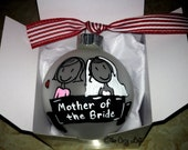 Mother of the Bride Gift, Personalized Christmas Ornament, Mom, Wedding Party, Father of the Bride, Daddy, Mama, Parents