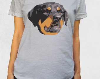 Ladies' Scoop Tee - Rottweiler Shirt - Sizes XS-S-M-L-XL-2XL - Rottweiler Large Breed Dogs Big Animal Lover Dog Tshirt Womens Graphic Tee