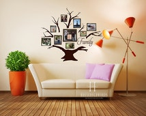 Family Tree Gift Wall Decal Tree Family Wall Decals Living Room Decor Family Reunion Gifts Modern Wall Decor Memory Wall Stickers